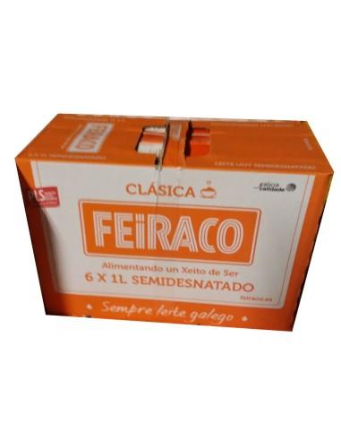 Leche Feiraco Semidesnatada pack 6 ltrs