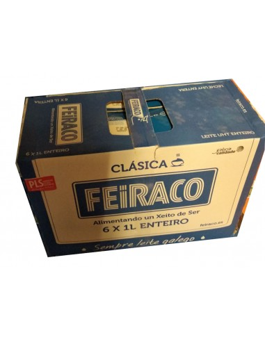 Leche Feiraco entera pack 6ltrs