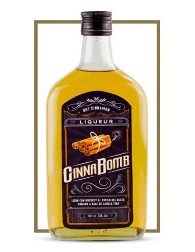 CinnaBomb Licor de Whisky 1l